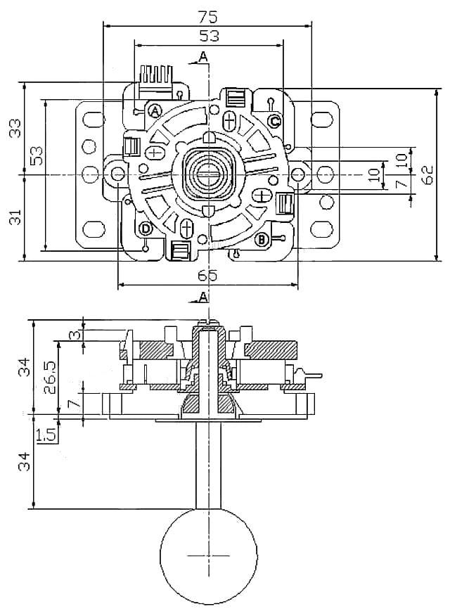 small arcade joystick id  480