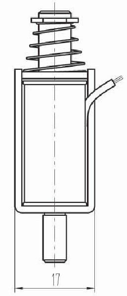 small push-pull solenoid id  412