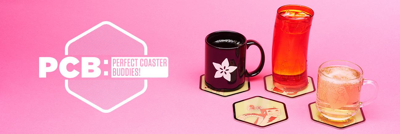Adafruit PCB Coasters