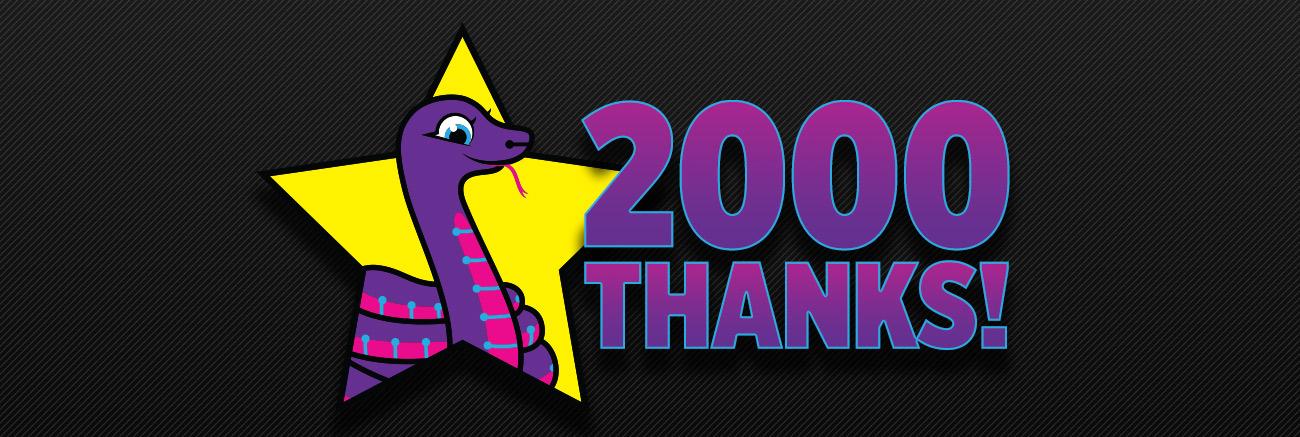 2000 Thanks! Github stars for CircuitPython.