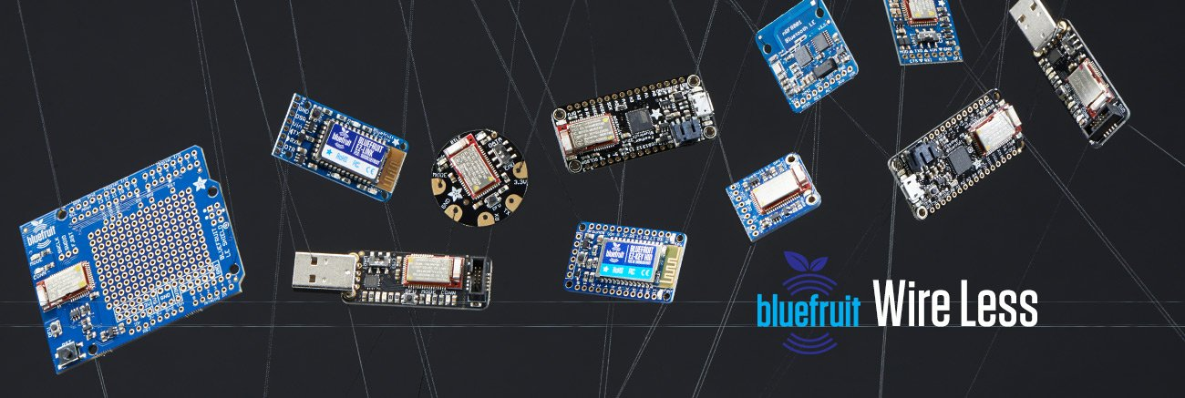 Bluefruit wireless. Various wireless breakout boards and sniffers.