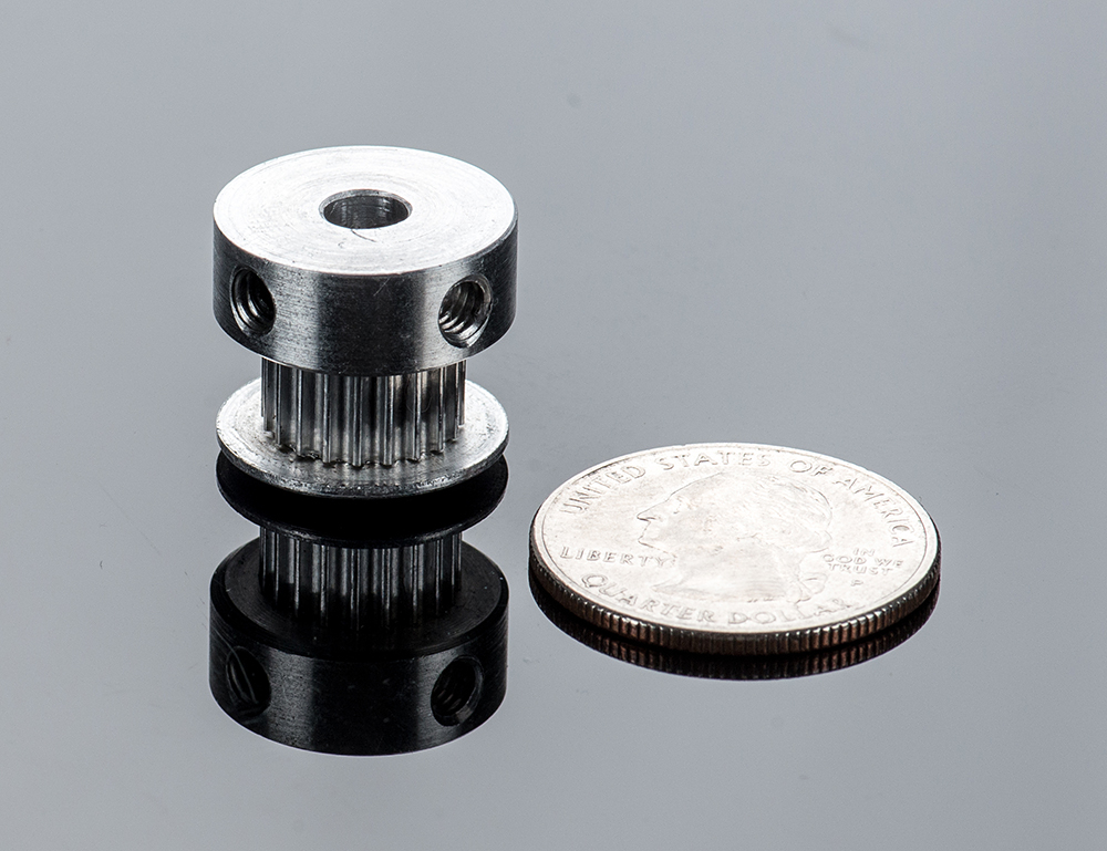 Aluminum GT2 Timing Pulley - 6mm Belt - 20 Tooth - 5mm Bore - Click Image to Close