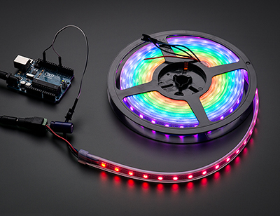 Adafruit NeoPixel Digital RGB LED Weatherproof Strip 60 LED -1m