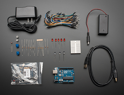 starter pack for arduino includes arduino uno r3 id 68 adafruit industries unique. Black Bedroom Furniture Sets. Home Design Ideas