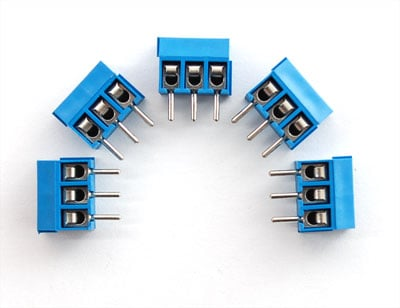 Terminal Block - 3-pin 3.5mm - pack of 5!