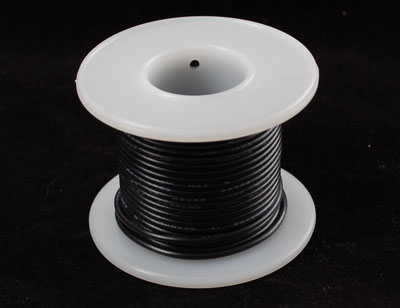 Hook-up wire spool - Black