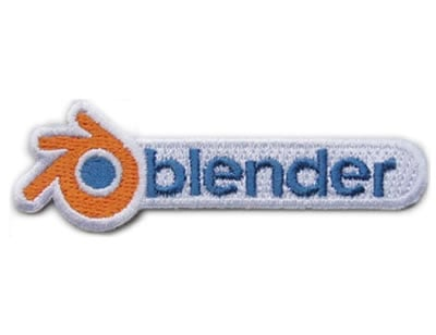 Blender - Skill badge, iron-on patch