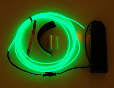 EL wire starter pack - Green 2.5 meter (8.2 ft)