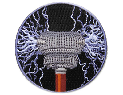 Tesla coil - Skill badge, iron-on patch