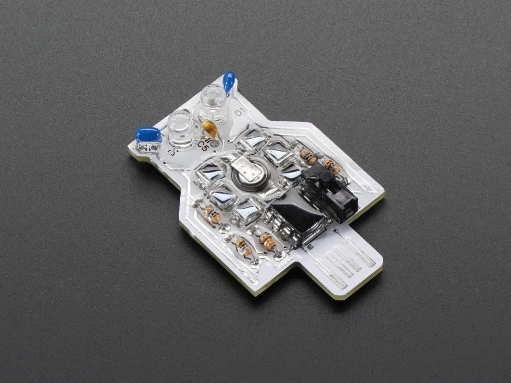 Assembled Solar Powered Owl Blinky LED Pendant Kit with LEDs blinking