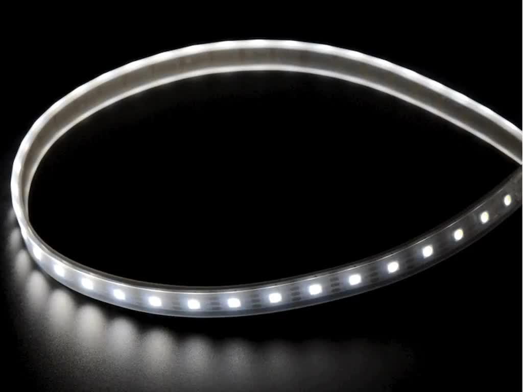 Adafruit DotStar LED Strip - Addressable Cool White - 60 LED/m - ~6000K