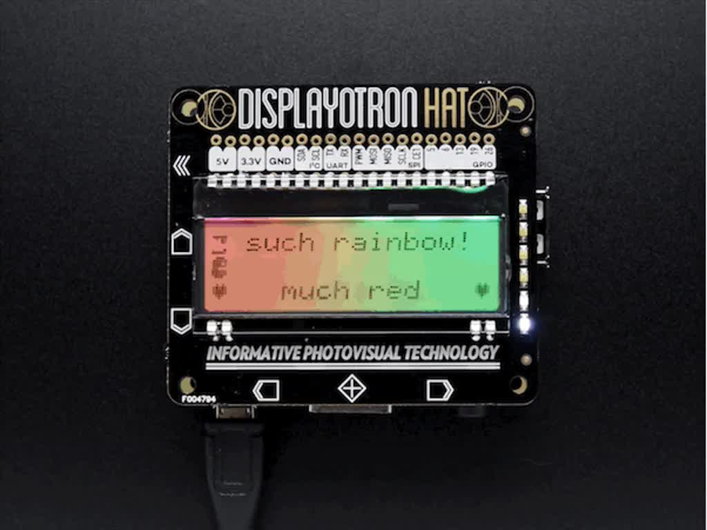 Pimoroni Display-O-Tron HAT