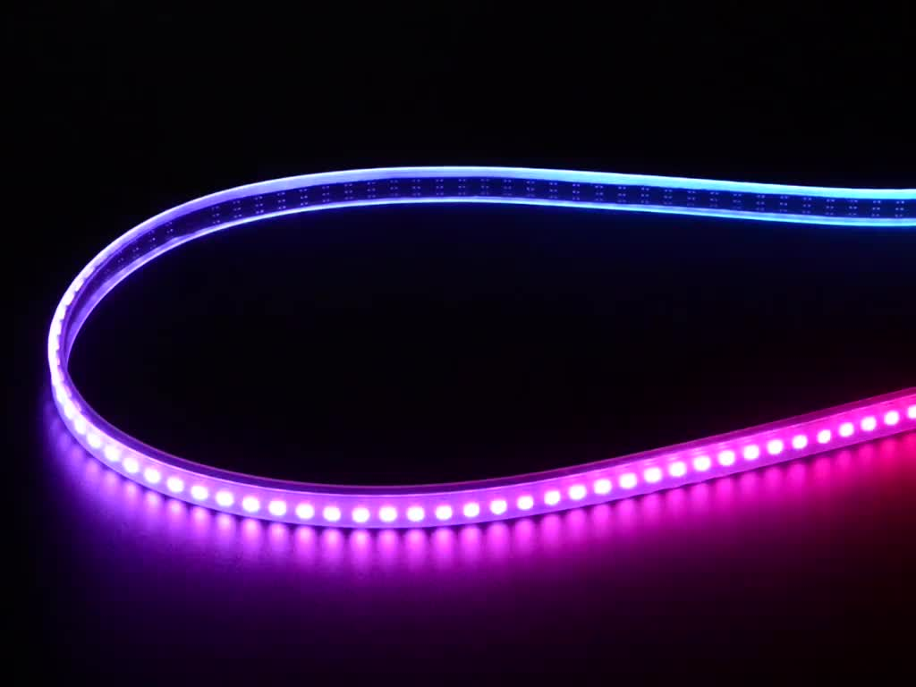 adafruit mini skinny neopixel digital rgb led strip 144 led m 1m black id 2970. Black Bedroom Furniture Sets. Home Design Ideas