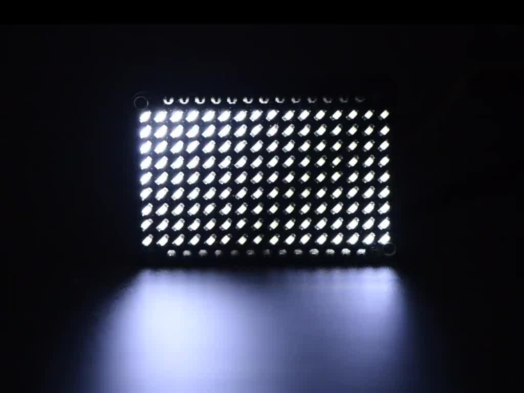 Green LED Charlieplexed Matrix 9x16 LEDs