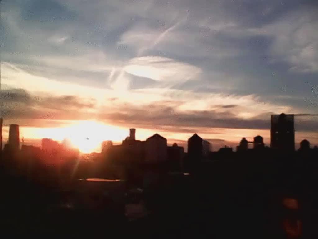 Timelapse of sunset