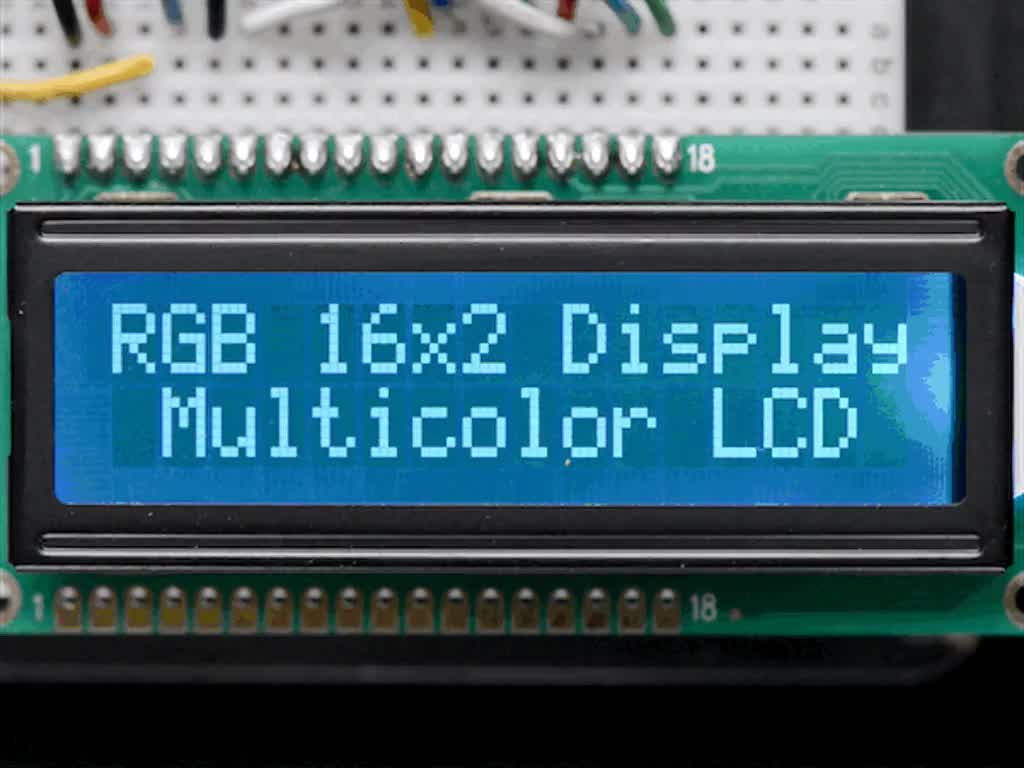 Rgb Backlight Negative Lcd 16x2 Extras On Black Id 399 Pwm Dimming For Led Video Displays