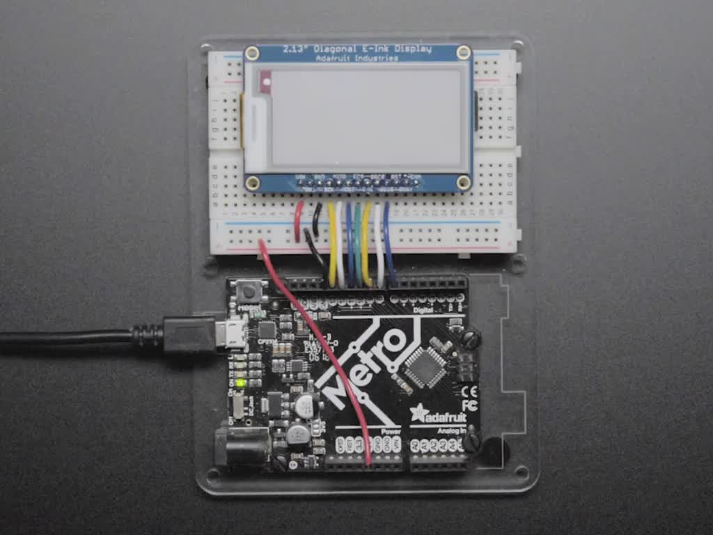 E-Ink display wired to Arduino, refreshing itself
