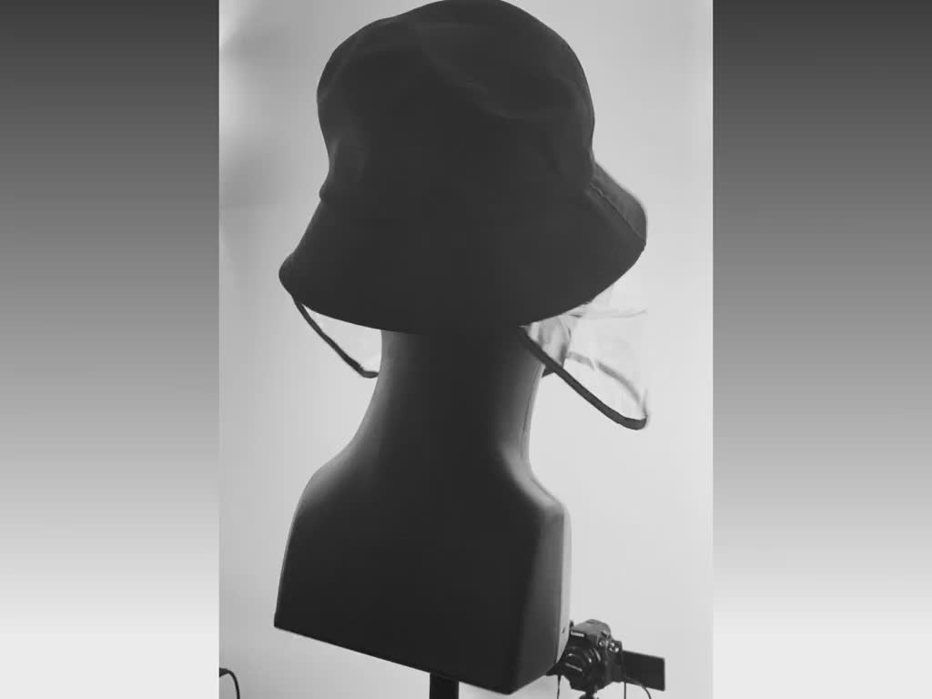 Hat on a rotating mannequin
