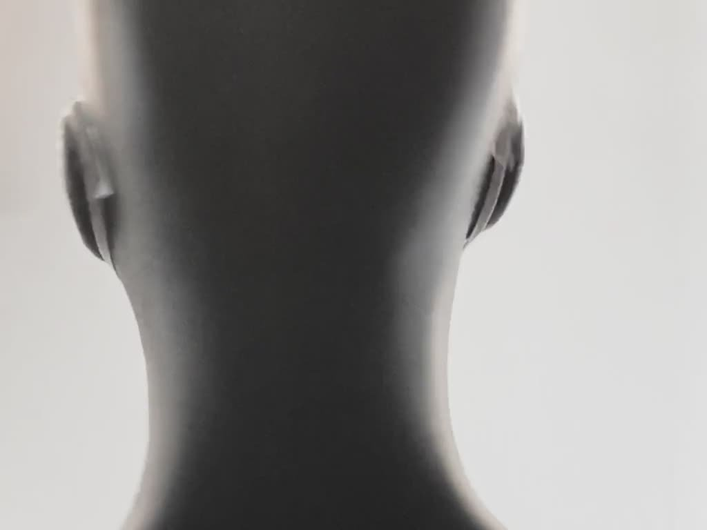 Mask shown on a rotating mannequin
