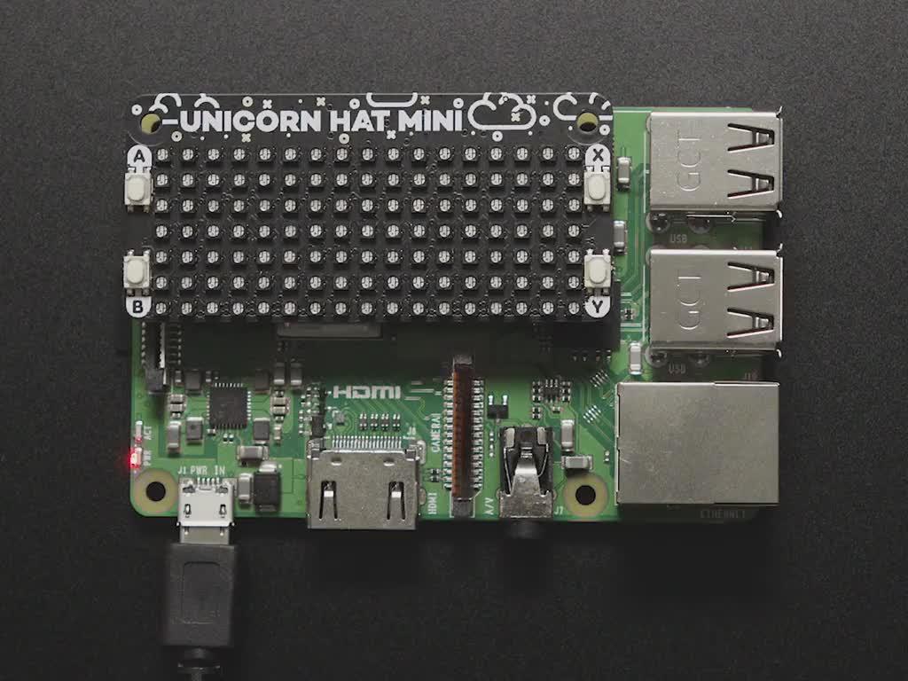Pimoroni Unicorn HAT Mini for Raspberry Pi - PIM498