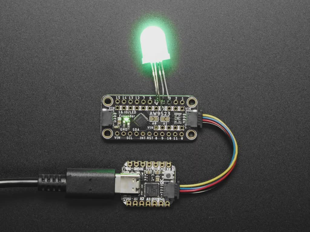 Adafruit AW9523 GPIO Expander and LED Driver Breakout - STEMMA QT / Qwiic