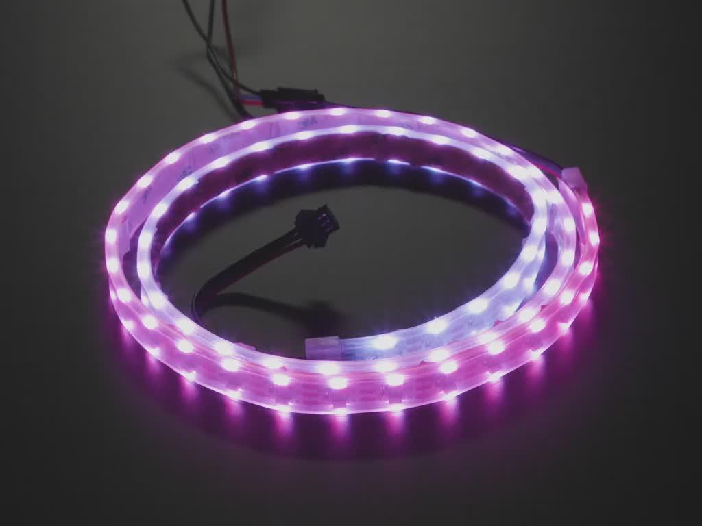 Dual Edge Side-Light NeoPixel LED Strip with120 LEDs per meter - 1 meter long
