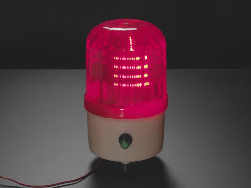 Video of warning light glowing swirling LEDs.