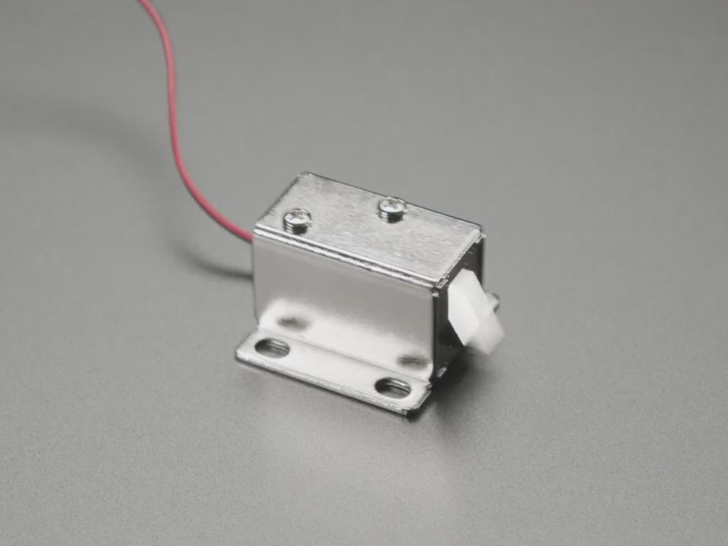 Small Lock-style Solenoid 6VDC @ 600mAh with 2-pin JST