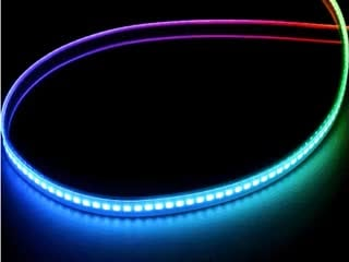 Curved NeoPixel LED strip with each LED changing color