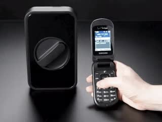 Lockitron Motorized Door Lock Body being opened by cell phone