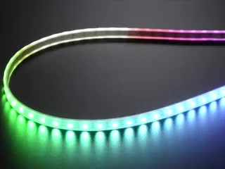 Adafruit NeoPixel Digital RGB LED Strip with different rainbow and white lights moving around