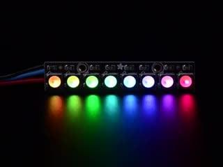 NeoPixel Stick - 8 x 5050 RGBW LEDs - Warm White - ~3000K