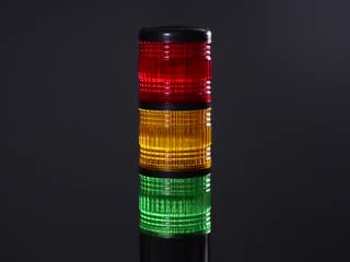 Tower Light with Red Yellow and Green segments lighting up