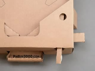 Animation of cardboard pinball machine play