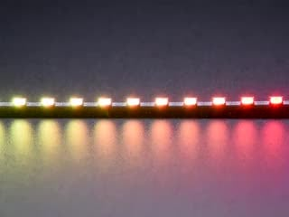 Close up of side lights changing rainbow colors