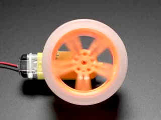 Wheel on motor, spinning