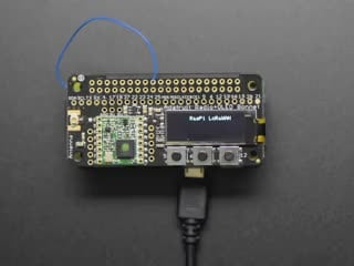 Adafruit LoRa Radio Bonnet with OLED - RFM95W @ 915MHz - RadioFruit