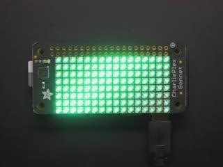 Adafruit CharliePlex LED Matrix Bonnet - 8x16 Green LEDs
