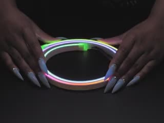 Hand flexing Flexible Silicone Neon-like Skinny NeoPixel LED Strip