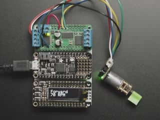 Geared DC Motor rotating while connected Circuitry shows RPM changing