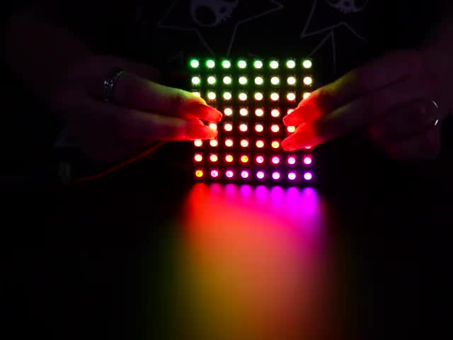 Flexible Adafruit DotStar Matrix 8x8 - 64 RGB LED Pixels