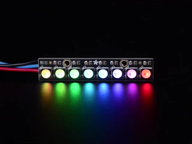 NeoPixel Stick - 8 x 5050 RGBW LEDs - Cool White - ~6000K
