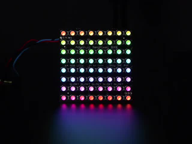 Adafruit NeoPixel NeoMatrix - 64 RGBW - Natural
