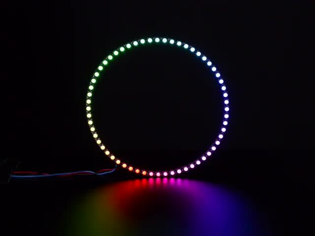 NeoPixel 1/4 60 Ring - 5050 RGBW LED w/ Integrated Drivers
