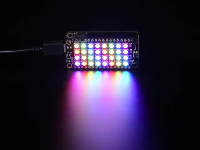 NeoPixel FeatherWing - 4x8 RGB LED Add-on For All Feather Boards