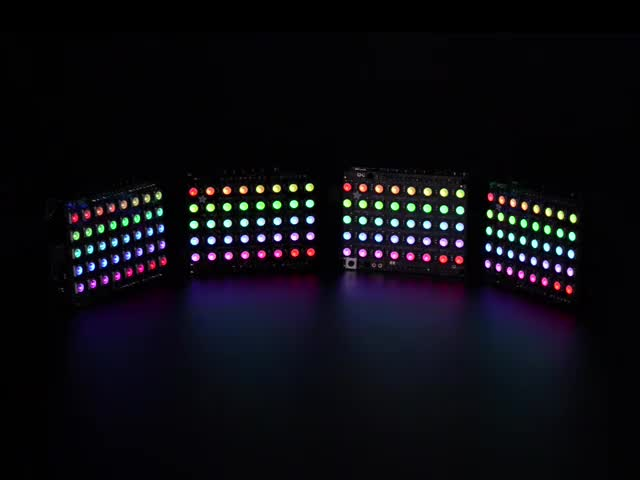 Various RGB and RGB NeoPixel shields animating colors