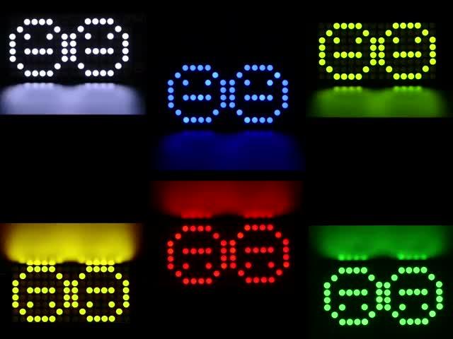 """Adafruit 0.8"""" 8x16 Matrix FeatherWing Display Kit Various Colors"""