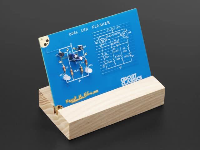 Assembled Dual LED Flasher Kit with LEDs flashing