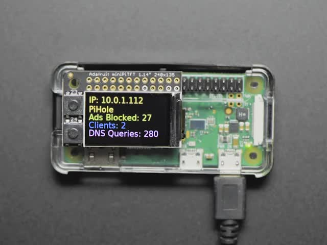 Mini Color PiTFT Ad Blocking Pi-Hole Kit