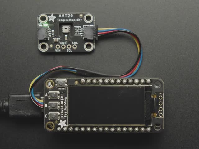 Adafruit FeatherWing OLED - 128x64 OLED Add-on For Feather